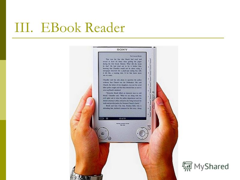 III. EBook Reader