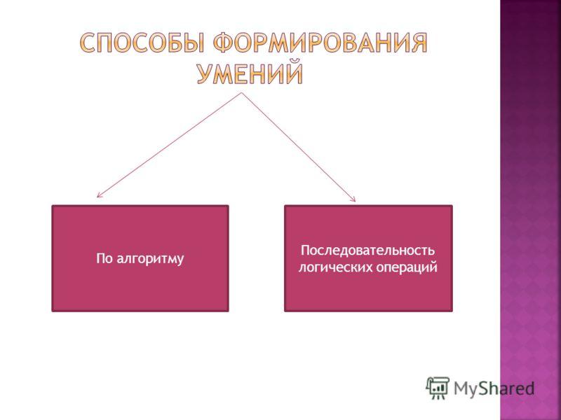 По алгоритму Последовательность логических операций