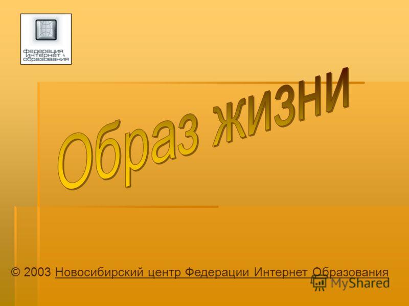 © 2003 Новосибирский центр Федерации Интернет ОбразованияНовосибирский центр Федерации Интернет Образования