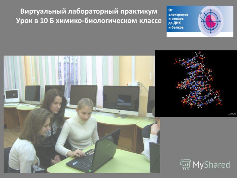 Виртуальный лабораторный практикум Урок в 10 Б химико-биологическом классе