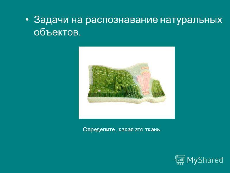 Задачи на распознавание натуральных объектов. Определите, какая это ткань.
