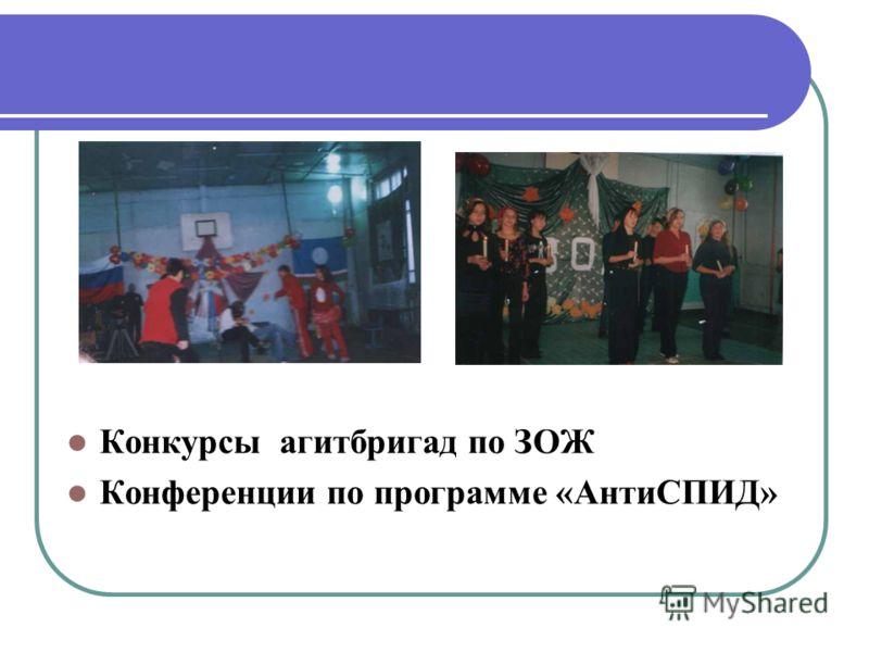 Конкурсы агитбригад по ЗОЖ Конференции по программе «АнтиСПИД»