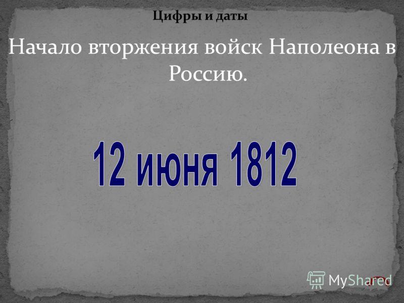 Начало вторжения войск Наполеона в Россию. Цифры и даты