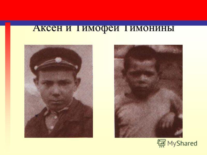 Аксен и Тимофей Тимонины