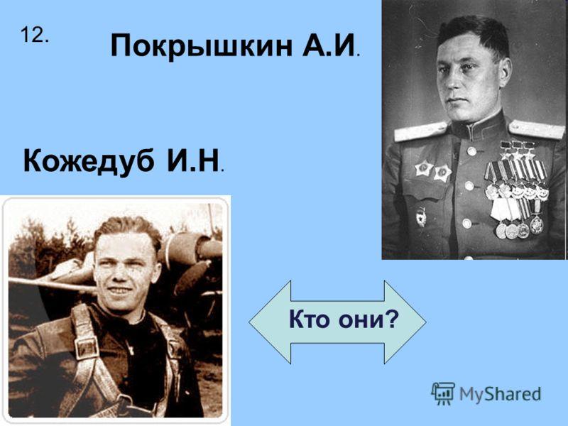 Кто они? Покрышкин А.И. Кожедуб И.Н. 12.