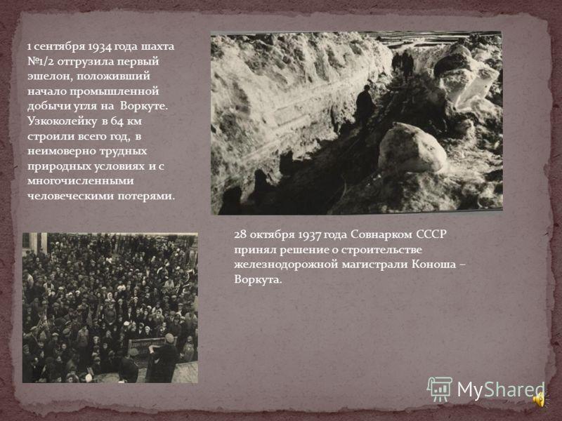 20 мая 1931 года из Чибью (Ухта) выступила первая партия в количестве 43 человек, которая прибыла на Воркуту только в конце июля, 4 августа на правом берегу реки Воркута, появилась первая штольня. К зимовке 1932 -1933 гг. на Воркуте уже было 3 лагпун