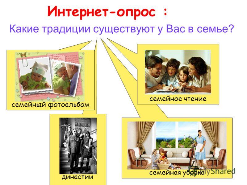 династии семейная уборка Какие традиции существуют у Вас в семье? Интернет-опрос : семейное чтение семейный фотоальбом