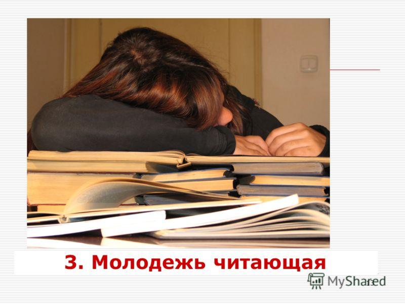 13 3. Молодежь читающая