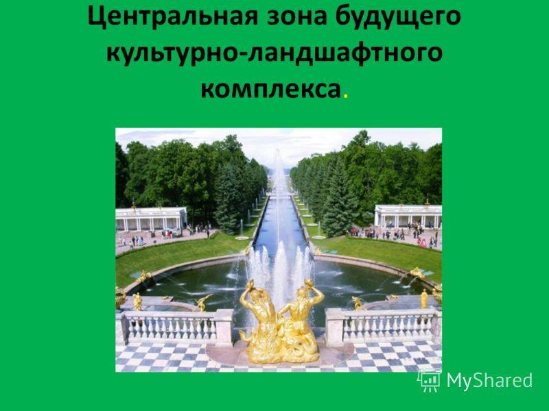 Центральная зона будущего культурно-ландшафтного комплекса.