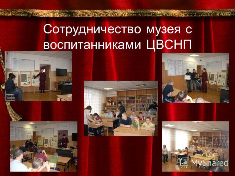 Сотрудничество музея с воспитанниками ЦВСНП