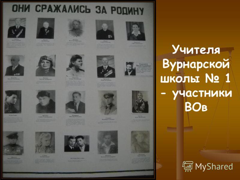 Учителя Вурнарской школы 1 - участники ВОв