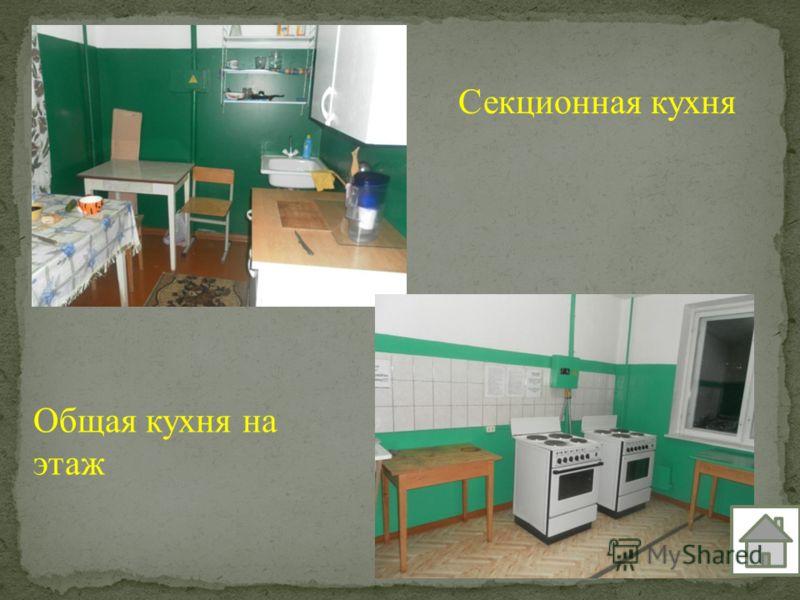 Секционная кухня Общая кухня на этаж