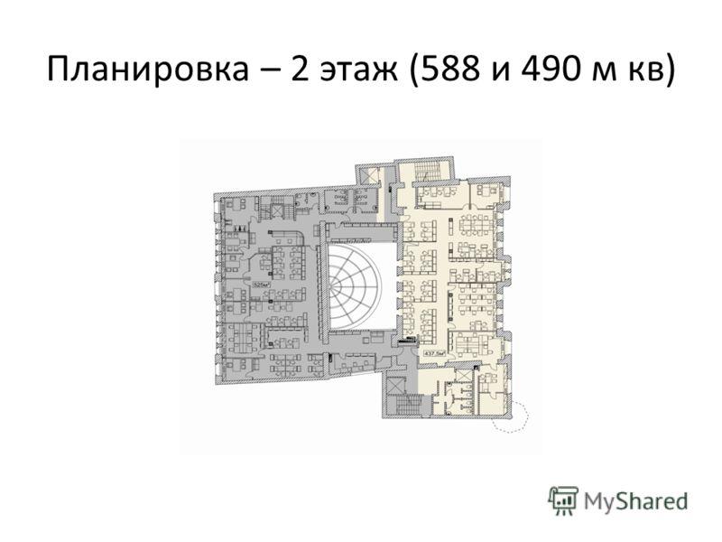 Планировка – 2 этаж (588 и 490 м кв)