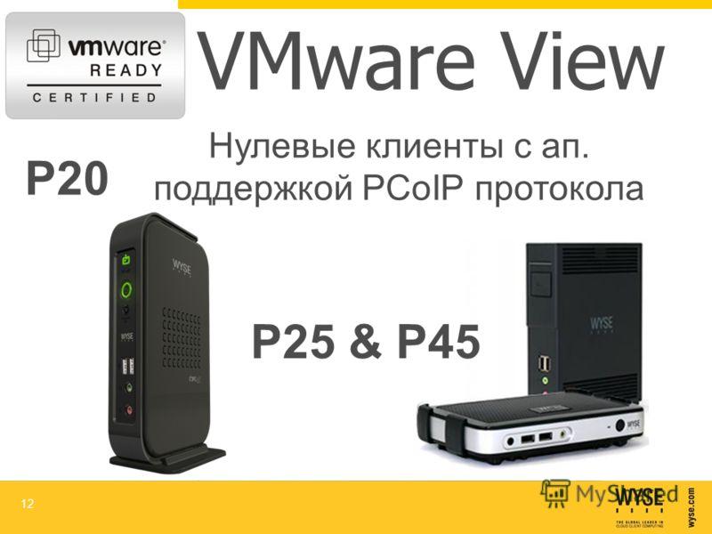 VMware View 12 P20 Р25 & Р45 Нулевые клиенты с ап. поддержкой PCoIP протокола