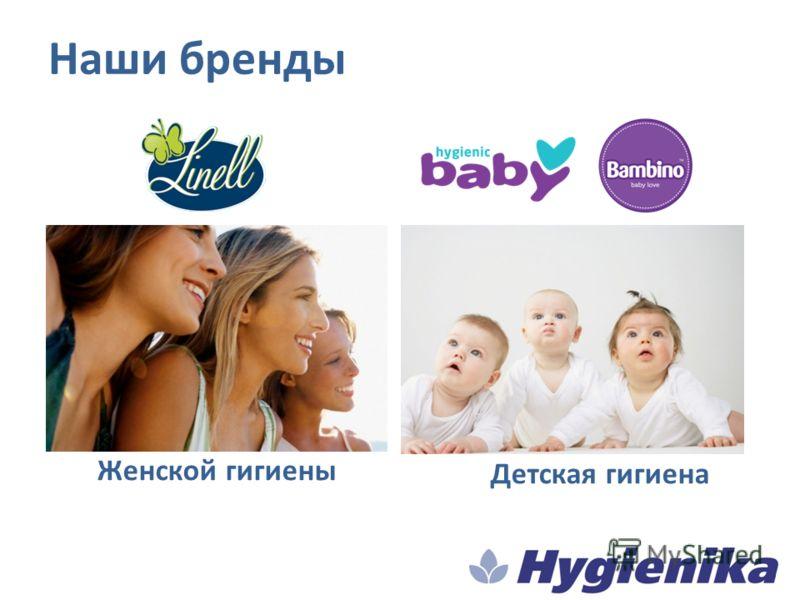 Наши бренды Женской гигиены Детская гигиена