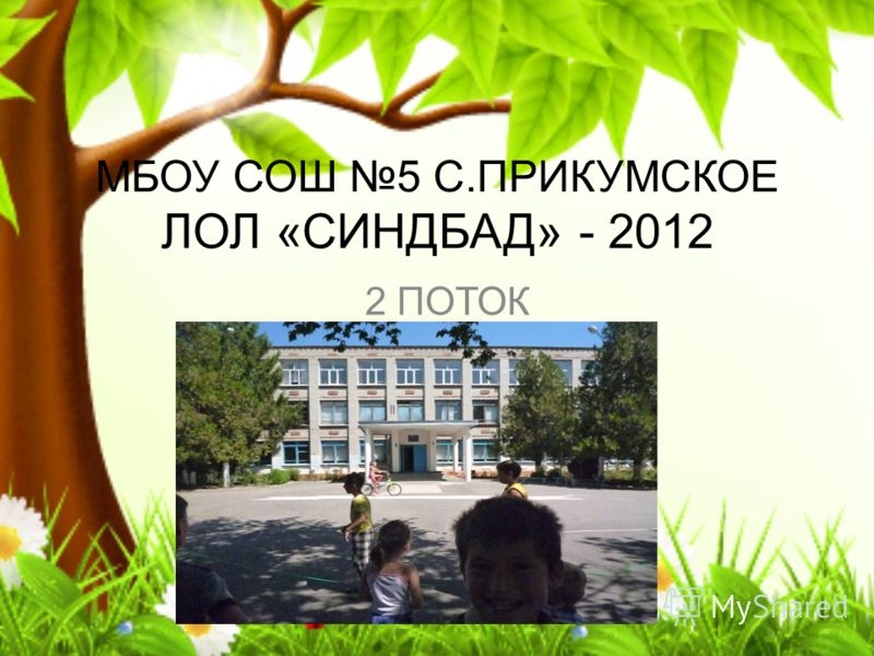 МБОУ СОШ 5 С.ПРИКУМСКОЕ ЛОЛ «СИНДБАД» - 2012 2 ПОТОК