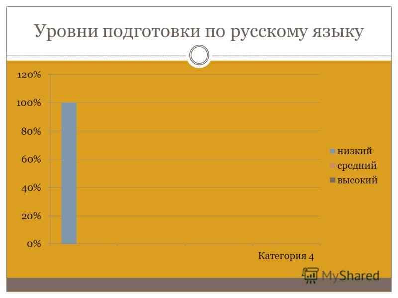 Уровни подготовки по русскому языку
