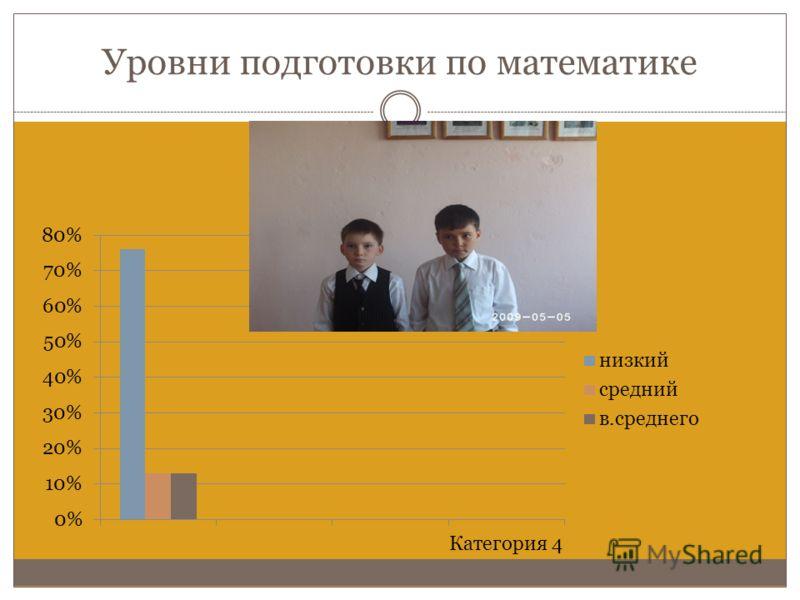 Уровни подготовки по математике