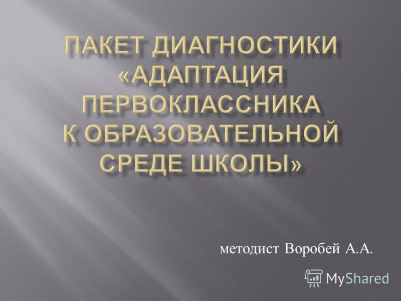 методист Воробей А. А.