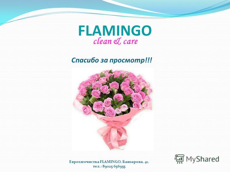 FLAMINGO clean & care Спасибо за просмотр!!! Еврохимчистка FLAMINGO, Банзарова, 41, тел.: 89025 656955