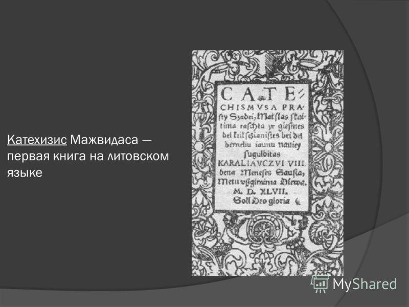Катехизис Мажвидаса первая книга на литовском языке