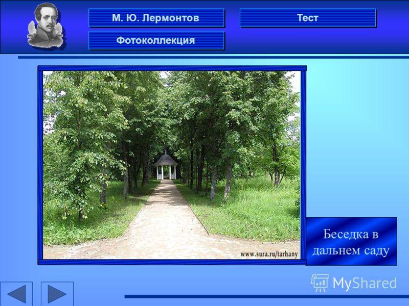 М. Ю. Лермонтов Фотоколлекция Тест Беседка в дальнем саду