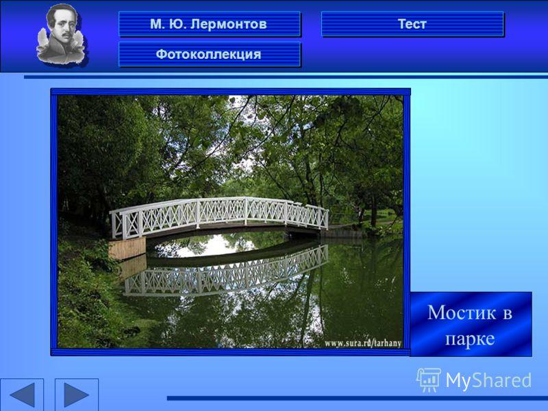 М. Ю. Лермонтов Фотоколлекция Тест Мостик в парке