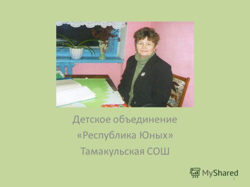 Детское объединение «Республика Юных» Тамакульская СОШ 1