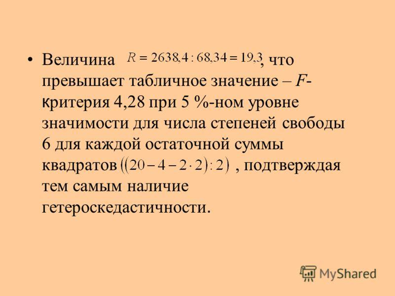 Уравнения регрессии xy 2-я группа с последними 8 районами: r = 0,969 F = 93,4 106132,4110,721,7470,89 112122,0118,73,310,89 11599,1122,7-23,6556,96 125114,2136,1-21,9479,61 132150,6145,45,227,04 149156,1168,2-12,1146,41 157209,5178,930,6936,36 282342