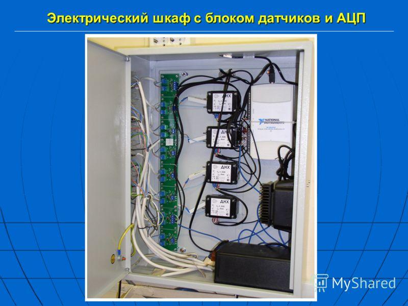 Электрический шкаф с блоком датчиков и АЦП