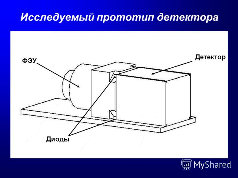 Исследуемый прототип детектора ФЭУ Детектор Диоды