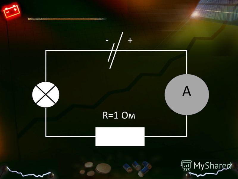 R=1 Ом А +-
