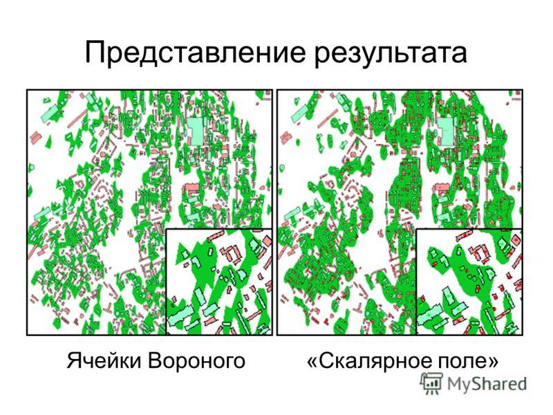 Представление результата Ячейки Вороного «Скалярное поле»