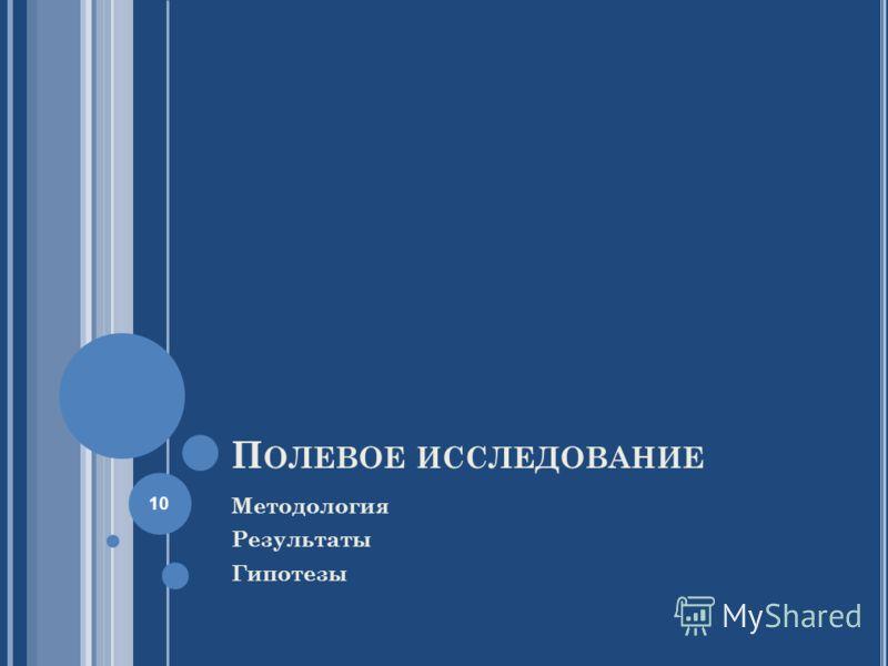 П ОЛЕВОЕ ИССЛЕДОВАНИЕ Методология Результаты Гипотезы 10