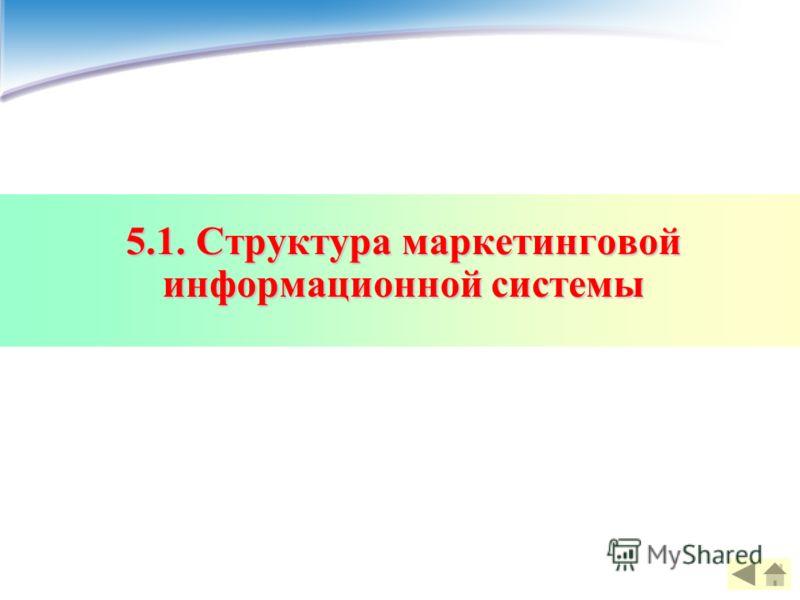 5.1. Структура маркетинговой информационной системы
