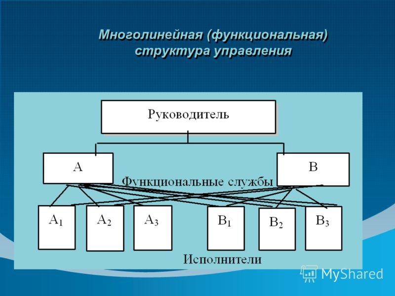 Многолинейная (функциональная) структура управления