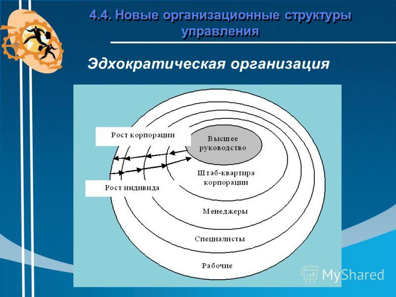 4.4. Новые организационные структуры управления Эдхократическая организация