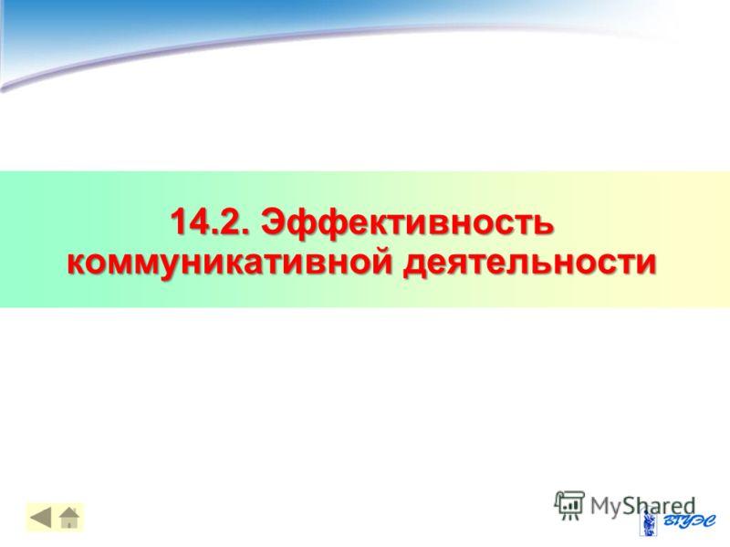 14.2. Эффективность коммуникативной деятельности 12