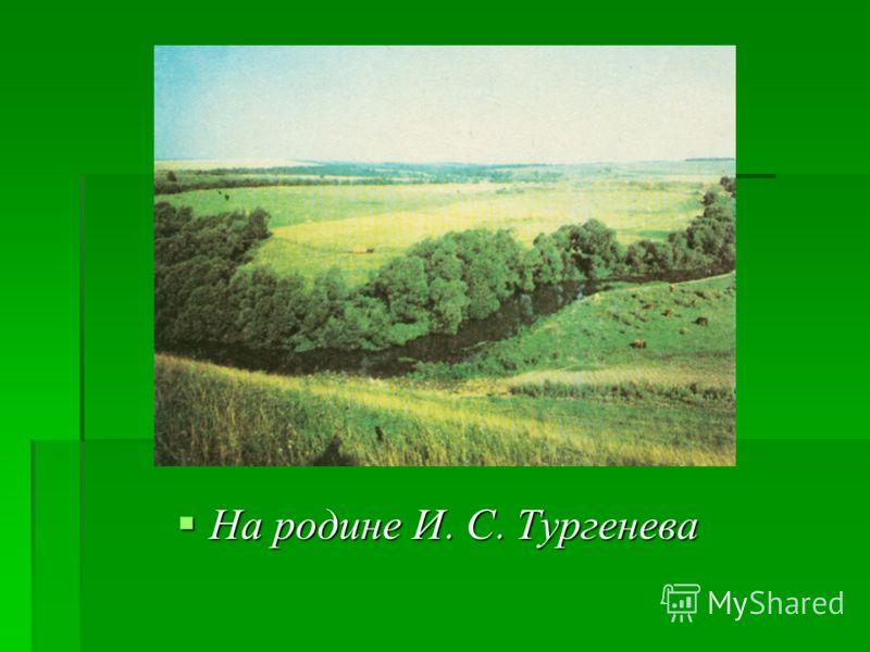 На родине И. С. Тургенева На родине И. С. Тургенева