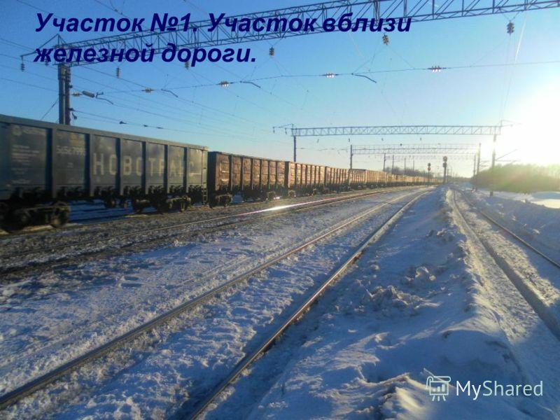 Участок 1. Участок вблизи железной дороги.
