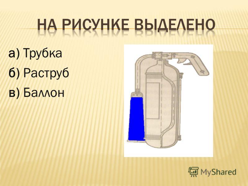 а) Трубка б) Раструб в) Баллон