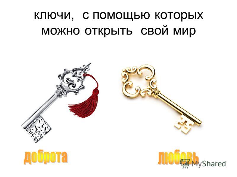 ключи, с помощью которых можно открыть свой мир