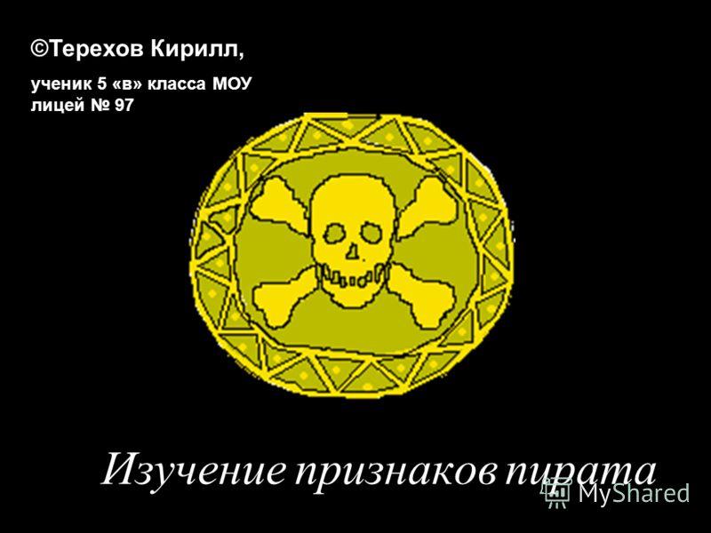 Изучение признаков пирата ©Терехов Кирилл, ученик 5 «в» класса МОУ лицей 97