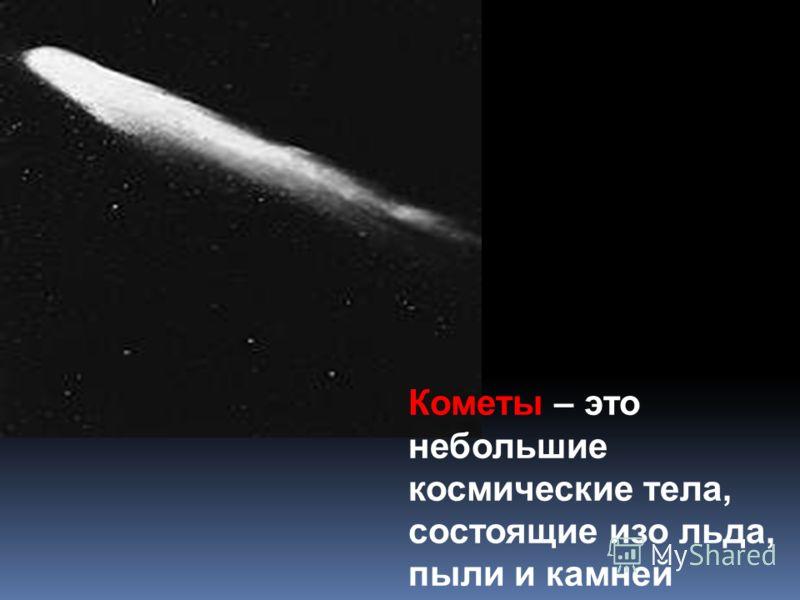 Кометы – это небольшие космические тела, состоящие изо льда, пыли и камней
