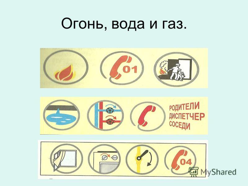 Огонь, вода и газ.