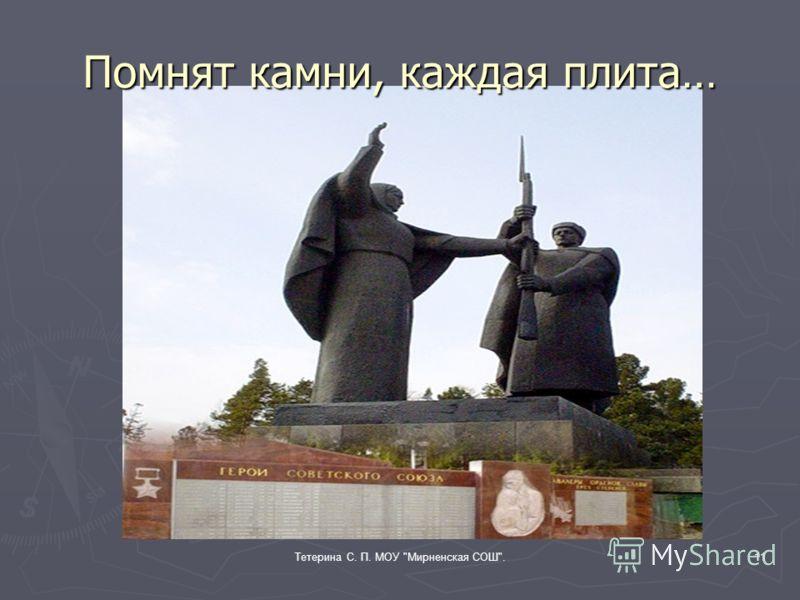 Тетерина С. П. МОУ Мирненская СОШ.10 Томский государственный университет