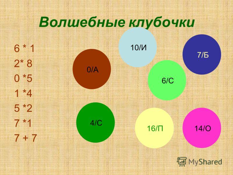 Волшебные клубочки 6 * 1 2* 8 0 *5 1 *4 5 *2 7 *1 7 + 7 6/С6/С 16/П 6/С6/С 4/С4/С7/Б7/Б14/О10/И0/А0/А