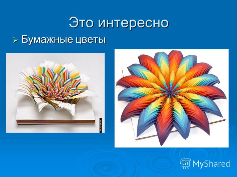 Это интересно Бумажные цветы Бумажные цветы