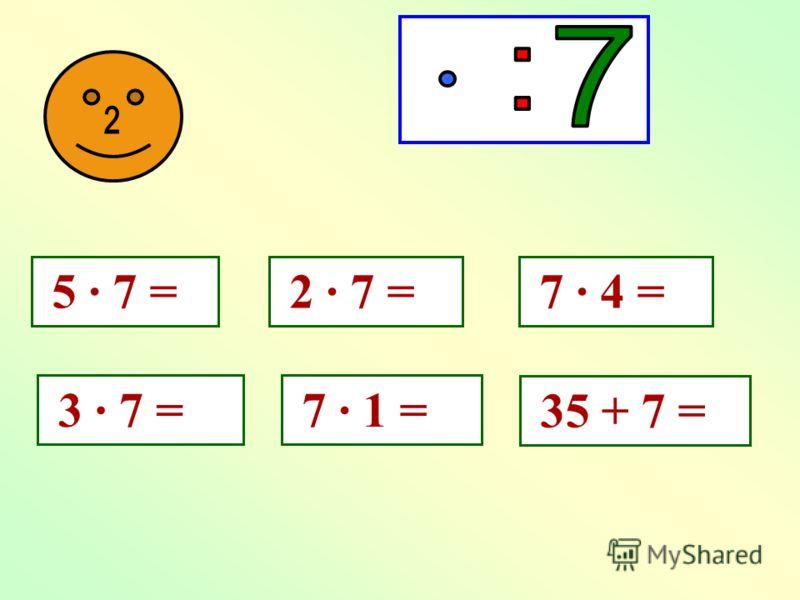 Составьте из чисел 7, 5 и 35 все возможные равенства.