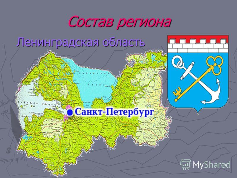 6 Состав региона Ленинградская область